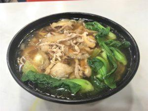 上海小吃の三鮮肉細湯麺35元