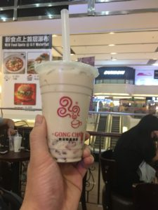 広州のGONG CHAにて金钻奶茶15元