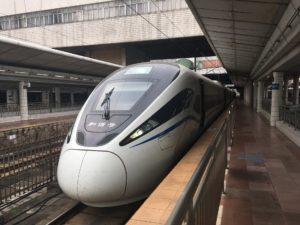広州東→深圳の高速鉄道和諧号