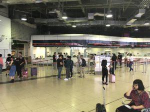 香港・羅湖駅の切符売り場