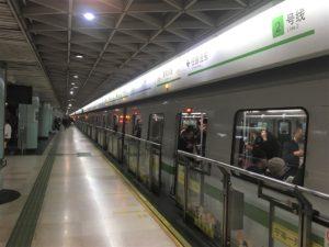 上海の地下鉄駅 南京東路