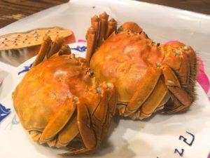 上海蟹2ハイで108元