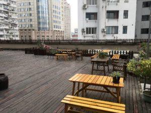 上海ブルーマウンテンバンドユース ホステルの屋上