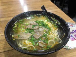 牛肉湯麺館の牛肉麺の小 12元