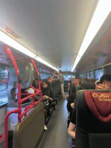 機場巴士(空港バス)A21系統の車内