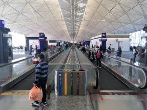香港国際空港の内部