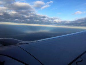 香港から厦門(アモイ)までの機上から風景