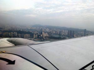 厦門航空(XIAMEN AIR)から厦門の街並み