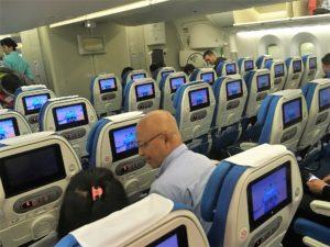 厦門航空(XIAMEN AIR)の国際路線の機内