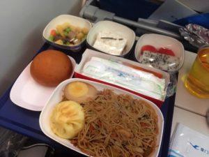厦門航空(XIAMEN AIR)の国際路線の機内食