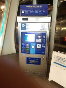 バンクーバースカイトレインの券売機