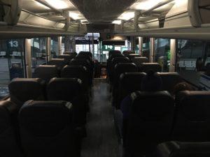 グレイハウンドバスの内部