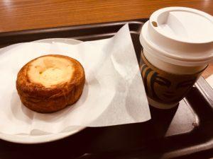 STARBUCKS浜田山店のスマトラとクリームチーズデニッシュ
