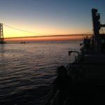 パンスタードリームからの夕焼けの瀬戸大橋