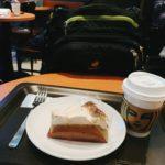 STARBUCKS浜田山店のエチオピアと紅茶のアーモンドミルクケーキ